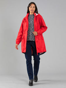 Waterproof Raincoat - Red Pepper