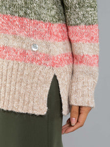 Stripe Marle Jumper - Cranberry Mix