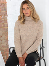 Load image into Gallery viewer, FLECK STEP HEM SWEATER - Beige
