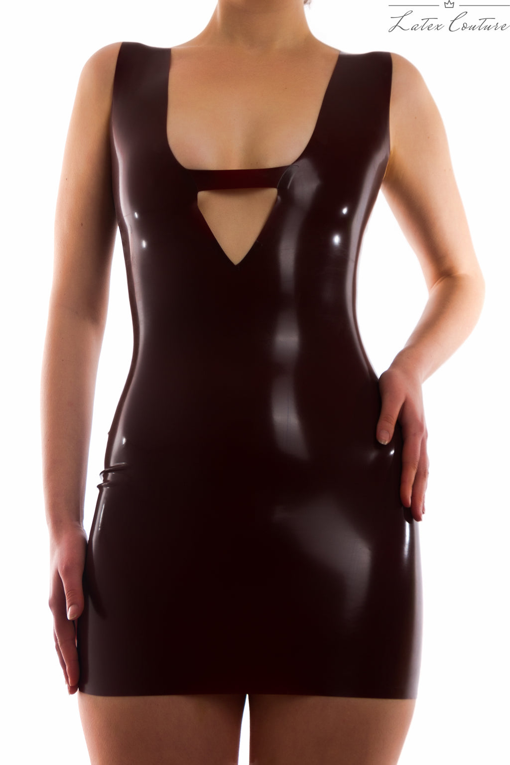 Latex Dress - Latex Deep-V Dress