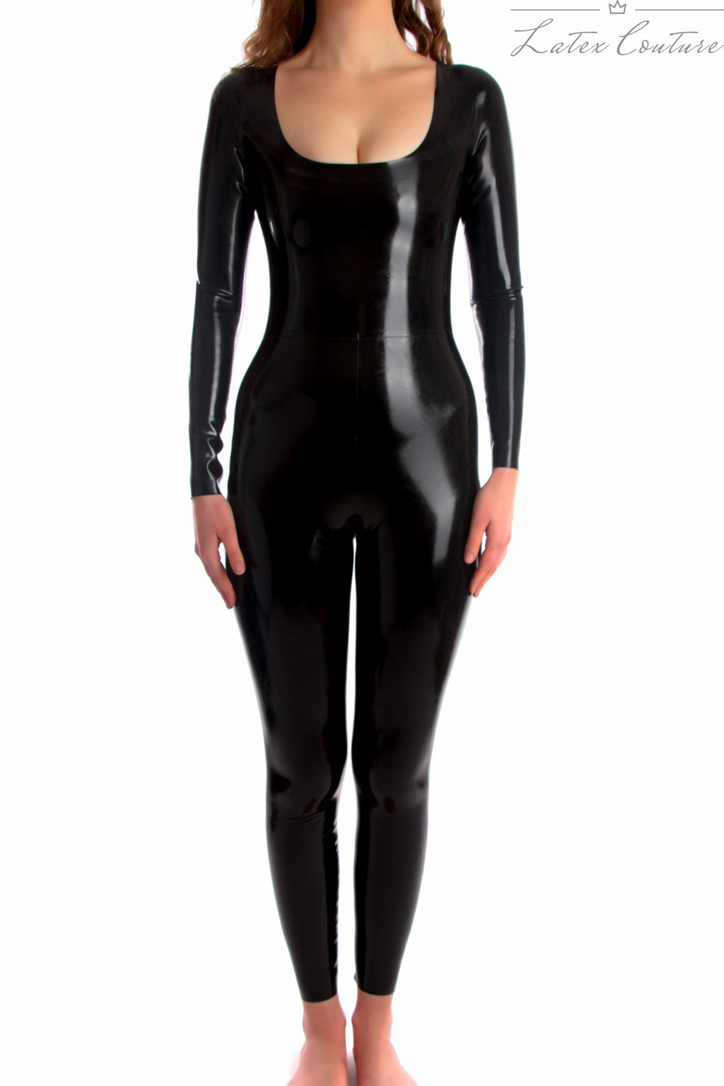 Latex Catsuit - Latex Scoop Neck Catsuit £160