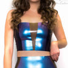 Latex Crop Top - Latex Panelled Crop Top £60
