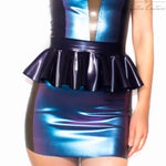 Latex Skirt - Latex Panelled Reversible Mini Skirt £60