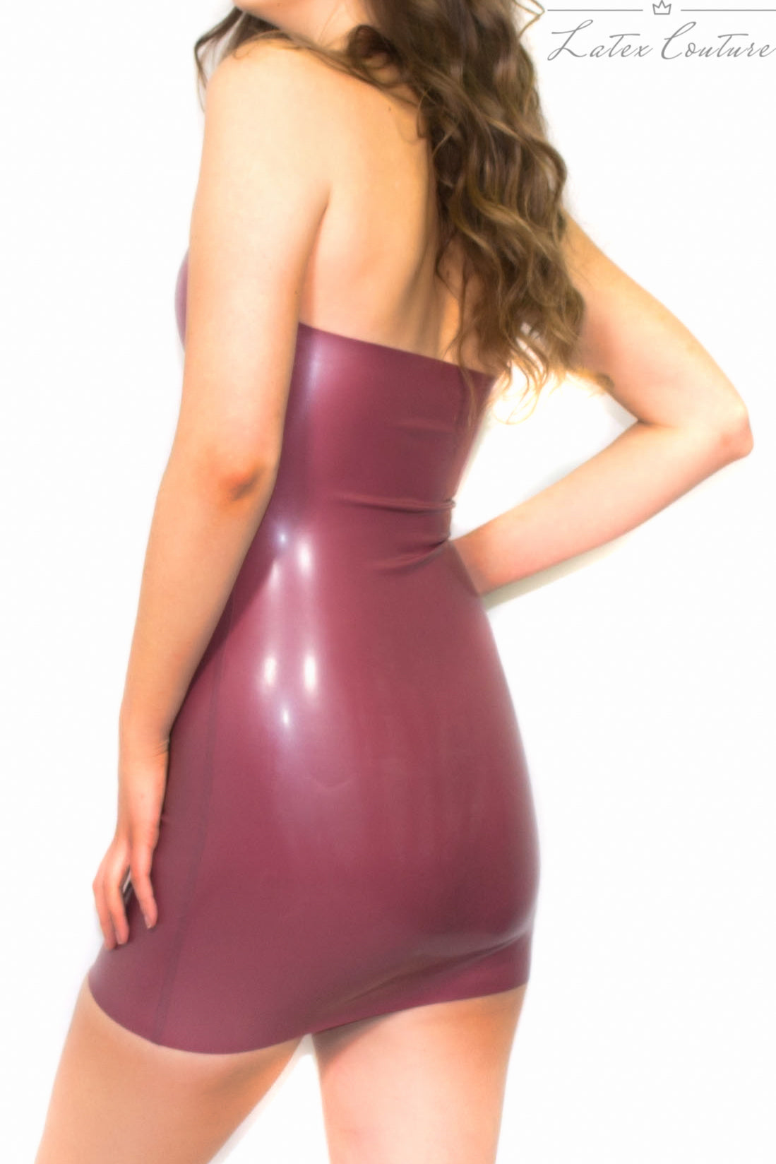Latex Dress - Latex V Plunge Neck Dress