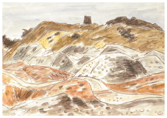 Kyffin Williams - Parys Mountain Card