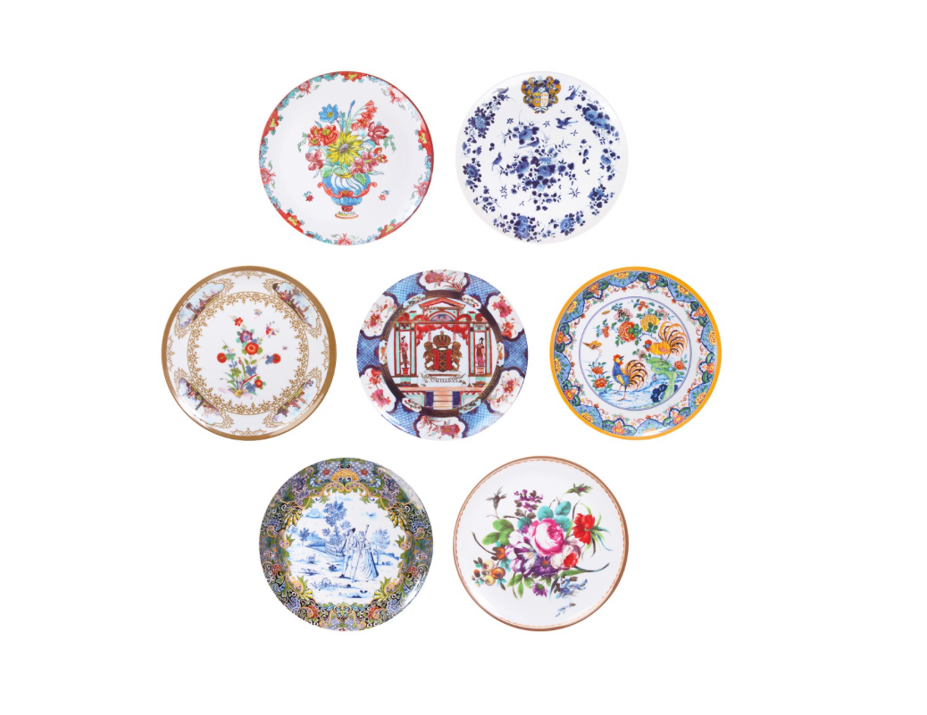 Regal Garden Plate Assortment (Set of 7)