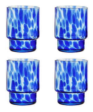 Blue Tortoiseshell Glass (Set of 4)