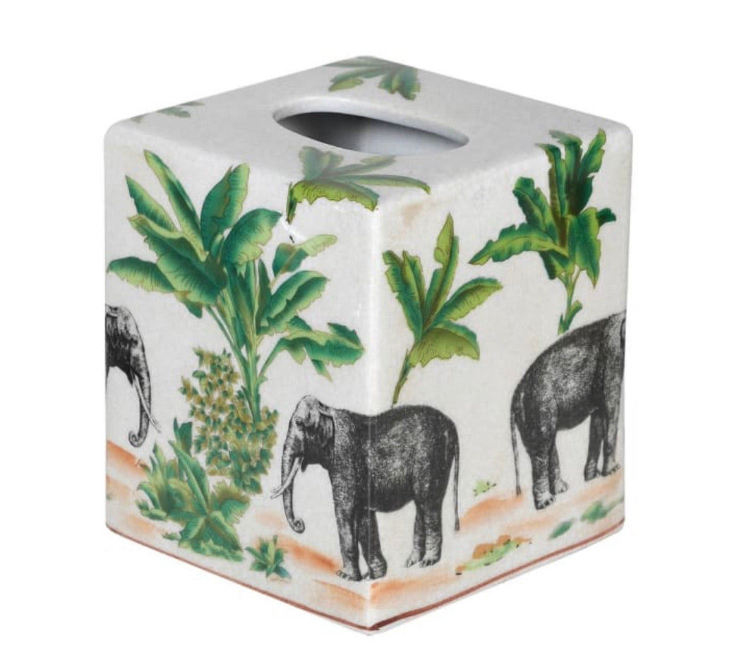 Elephant Safari Tissue Holder