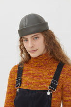 Load image into Gallery viewer, DENISE BLACK ECO-FRIENDLY LEATHER HAT