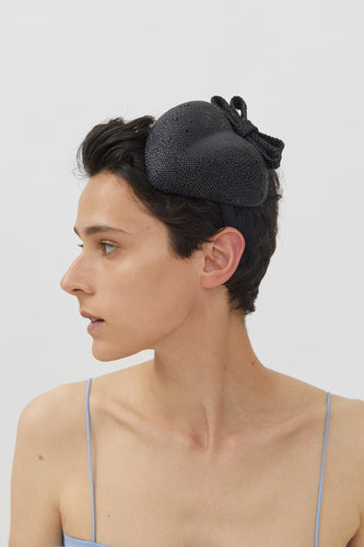 ELODIE BLACK VISCOSE HAIR BAND