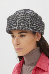 ELVEZIA GREY ANIMALIER HAT