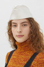 Load image into Gallery viewer, GAELLE WHITE MOIRE' HAT