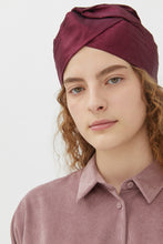 Load image into Gallery viewer, GENOVEFFA SCARLET MOIRE' TURBAN