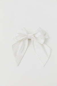 LULU' WHITE SHANTOUNG HEADDRESS