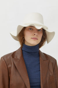MARZIA WHITE WOOL HAT