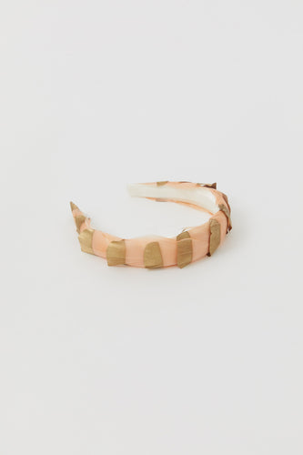 MIRTILLA DUSTY PINK + GOLD DETAILS HAIR BAND