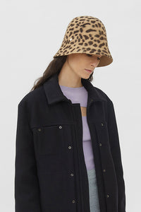 RENATA BLACK & BROWN ANIMALIER HAT