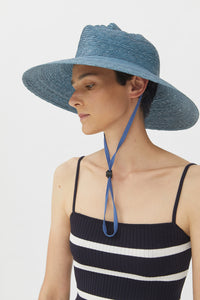 XENIA BLACK STRAW HAT