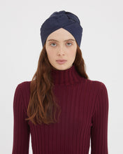 Load image into Gallery viewer, GENOVEFFA BLUE LIGHTWOOL TURBAN