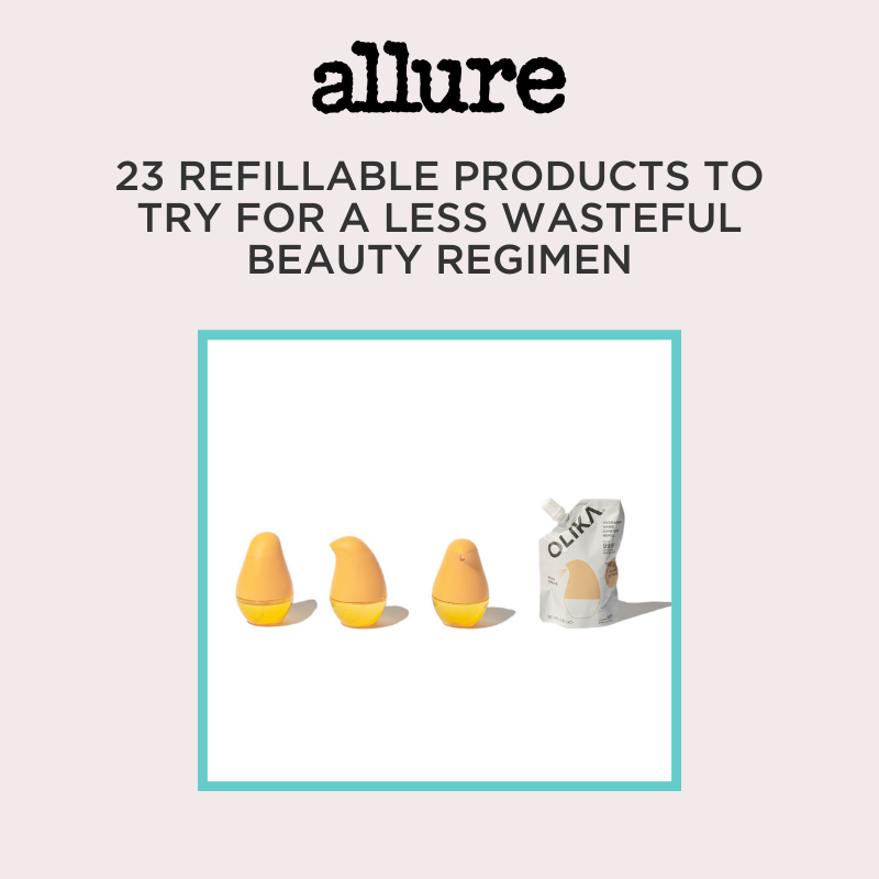 "Items Pictured: Allure: ""27 Refillable Products to Try for a Less Wasteful Beauty Regiman"" Olika Hydrating Hand Sanitizers"