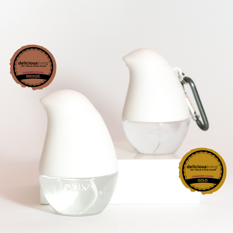 Delicious Living Awards for Spray and Clip On Hand Sanitizers