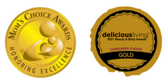 OLIKA Clip-On Awards: Mom's Choice Awards and Delicious Living Gold