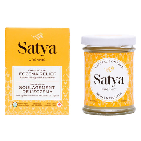 Satya Products featuring their signature yellow packaging