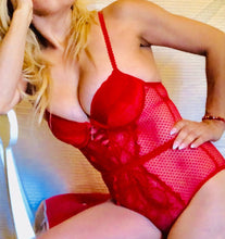 Load image into Gallery viewer, Red Sexy Lace Teddy