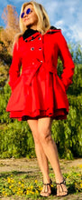 Load image into Gallery viewer, Women's Red Winter Coat