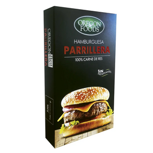 (Pack x 4) Hamburguesa Parrillera marca OREGON FOODS - CARNE EXPRESS