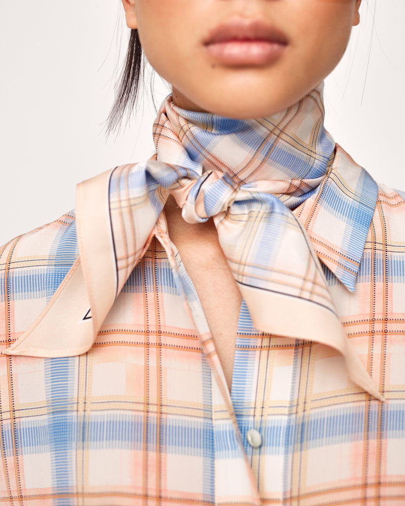 Ruth silk scarf - blush