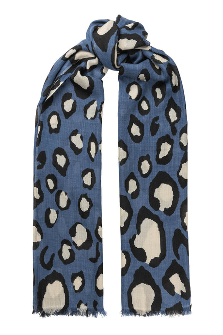 Lea wool scarf - Denim