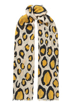 Load image into Gallery viewer, Lea wool scarf - Ochre