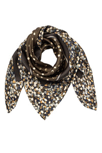 Clemence Silk Scarf - Olive