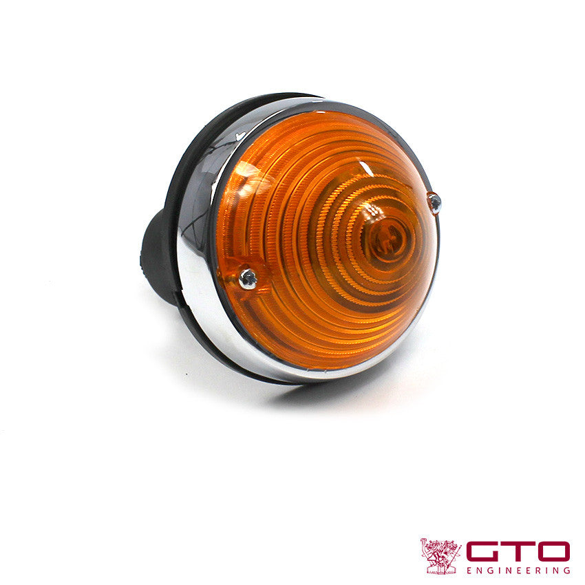 Large Orange Tail Lights Chromed Steel 25