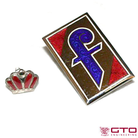"Badge Pininfarina ""F"" & Crown"