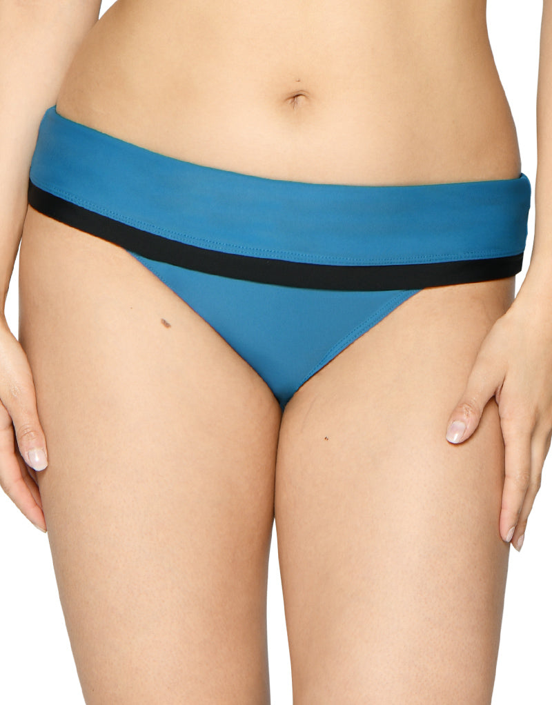 Curvy Kate Rock The Pool Fold Bikini Brief Petrol Blue