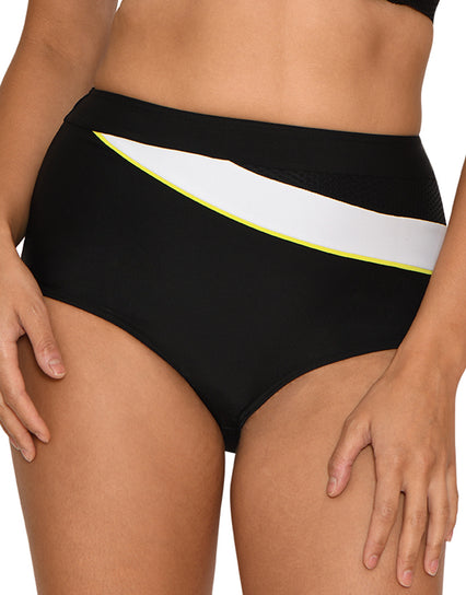 Curvy Kate Graphic Beach High Waist Bikini Brief Monochrome