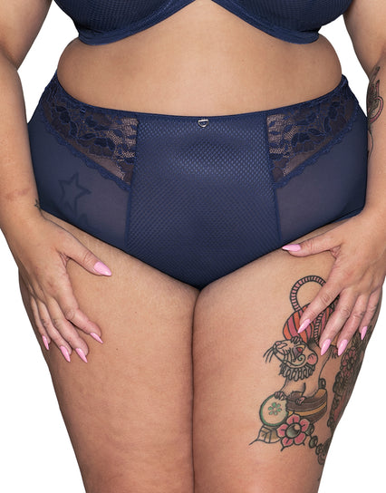 Curvy Kate DelightFull High Waist Brief Denim Blue