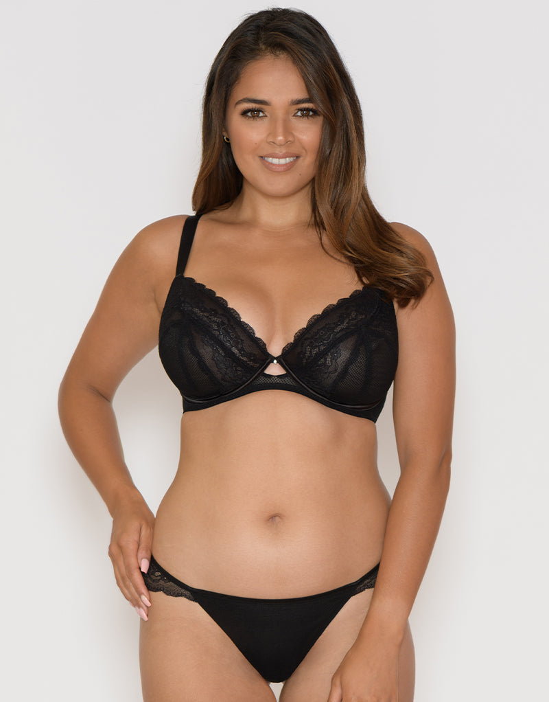 Curvy Kate In Love with Lace Plunge Bra Black