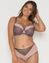 Curvy Kate Victory Pin-Up Balcony Bra Grey/Pink
