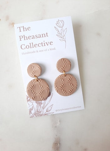 Willow Earrings in Desert Sand