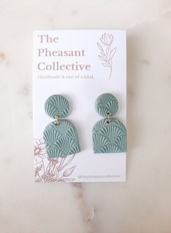 Calla Earrings in Seafoam