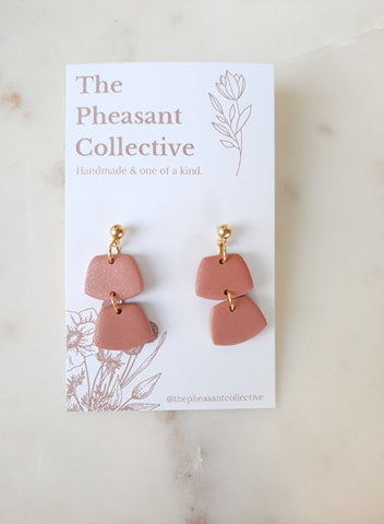 Ivy Earrings in Rose