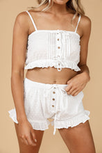 Load image into Gallery viewer, Splendour Cropped Cami - White
