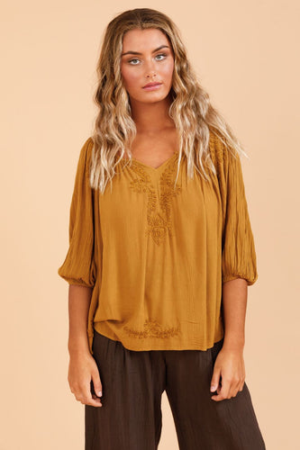 Temple Top - Mustard