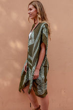 Load image into Gallery viewer, Kayla Flower Kimono - Khaki