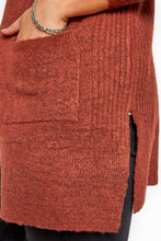 Load image into Gallery viewer, Ribbed Trim Cardi - Rust