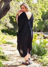 Load image into Gallery viewer, Cold Shoulder Dress in Black