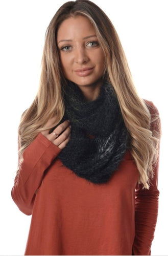 Indian charcoal Infinity Scarf